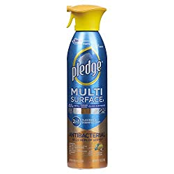 Pledge Multisurface Antibacterial Cleaner and Polish Spray, Works on Wood, Granite, Granite, Glass,
