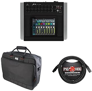 Behringer X18 Ultra-Compact 18-Input 12-Bus Digital iPad/Tablet Mixer with 16 Programmable MIDAS Preamps, Gator Cases Updated Padded Nylon Mixer/Equipment Bag, 15' 8mm XLR Microphone Cable