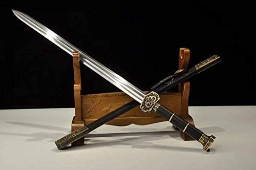 Indianapolis Mall Chinese Sword Ruyi Damascus Los Angeles Mall Steel Hand Brass Blade Ebony