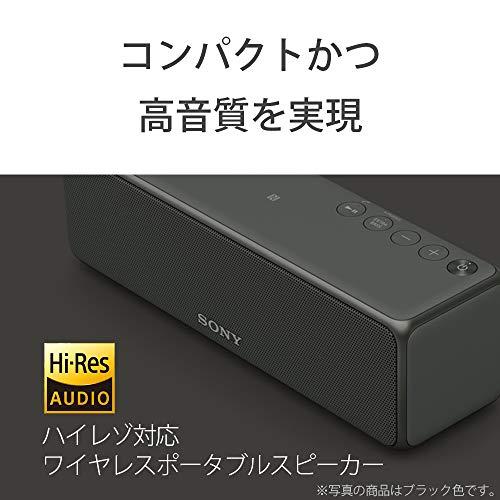 ソニーワイヤレスポータブルスピーカーSRS-HG10:Bluetooth/Wi-Fi/LDAC/ハイレゾ/専用スマホアプリ対応2018年モデル/マイク付き/グレイッシュブラックSRS-HG10B
