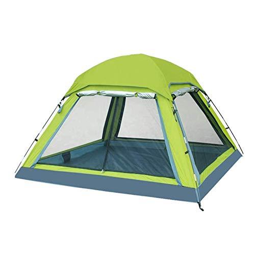 Tienda de campaña al aire libre, Ourdoor 2-4 Persona Pop Up Tent, Deportes Camping Senderismo Tienda Impermeable Mochila Viajes Tienda para Playa Parque Color de picnic: Verde, Tamaño: 210x210x135cm