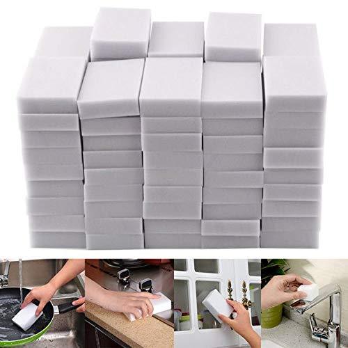 SIRIGOGO Esponjas de Limpieza, 20 esponjas mágicas multifuncionales de Espuma de melamina Blanca, Almohadilla de Borrador para Limpieza de hogar, Cocina, baño