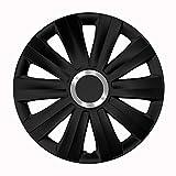 CM DESIGN Radkappen 16 Zoll Viper schwarz Radzierblenden für viele Verschiedene Fahrzeugtypen und Jede handelsübliche Stahlfelge