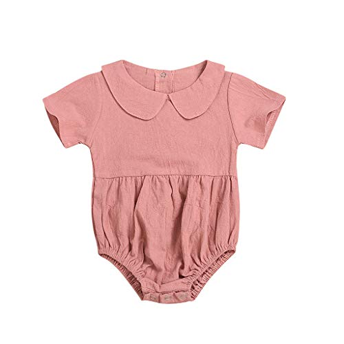 Kobay Neugeborenes Baby Baby Kinder Mädchen Bodysuit Strampler Outfits Kurzarmoverall mit Overall (0-24M)