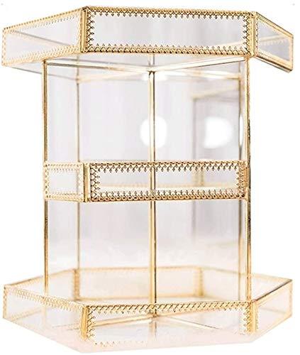 KEEBON Trucco Organizzatore a 360 Gradi Rotante Desktop Box Multi-Layer Ufficio Finishing Box Gioielli Makeup Box Makeup Scatola di immagazzinaggio Cosmetico Rack Cosmetic Box Organizzatori Cosmetici