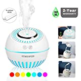 DCMEKA Cool Mist Baby Humidifier, Ultrasonic Aroma Humidifier with 7 Color Lights Aromatherapy Diffusers Auto...
