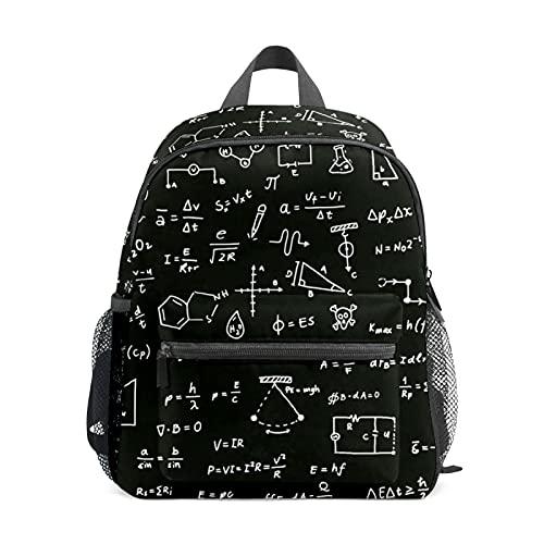 Mini mochila para niñas con fórmulas científicas de pizarra pequeña mochila para mujeres 12 pulgadas bolsa de viaje bolsa de escuela para niñas y niños