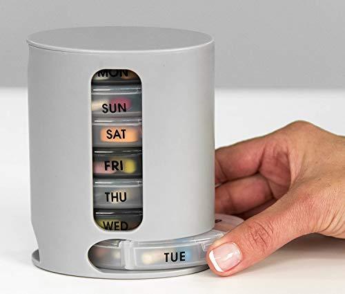 Crownmart Pill Pro 7 Days Weekly Tablet Medicine Storage Organizer Box Pill Box