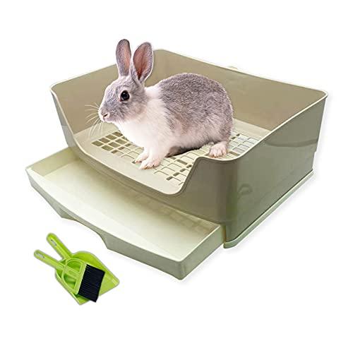 SAIROY Large Rabbit Litter Box Toilet with Drawer Corner...