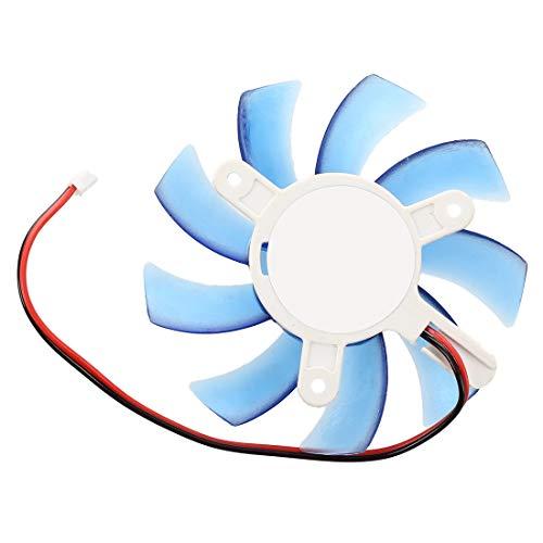 Naliovker 75mm 12VDC Azul Enfriador Ventilador de enfriamiento de Tarjeta de Video VGA de plastico para computadora