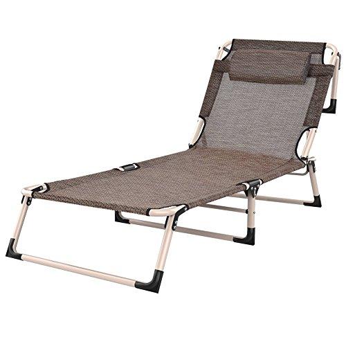 XUENUO Deck Chairs Lounge Koele Ademende Eenvoudige Vouwstoel/Office Siesta Lounge Vouwstoel Lichtgewicht Vouwbed/Draagbare Outdoor Ligstoelen, 1101120409933858_B