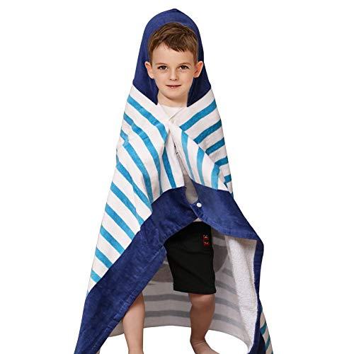 Godagoda - Toalla de Playa de algodón para niños de 2 a 7 años, Multiusos, para bañera/Ducha/Piscina/natación, Toalla con Capucha para niños