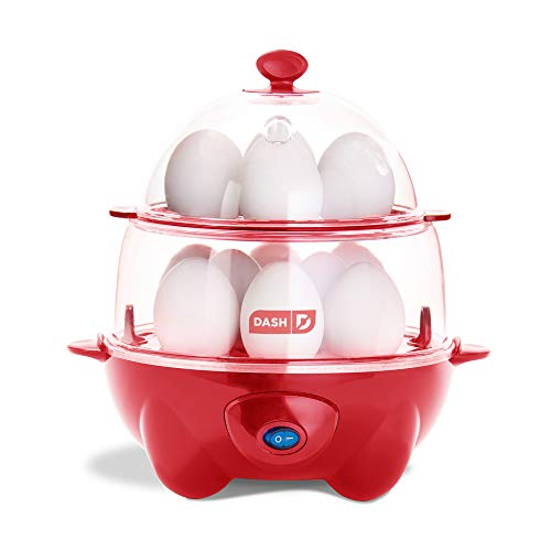 Dash DEC012RD Deluxe Rapid Cooker Electric for Hard Boiled, Poached, Scrambled Eggs,...