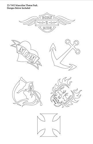 Badger Totally Tattoo Body Art Schablonen maskulines Themen-Set