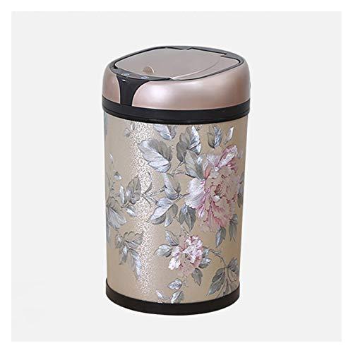 Bote de Basura La papelera creativa de la basura con la tapa de la tapa Smart Basura puede abrir la tapa abierta automática y el contenedor de basura activado por movimiento, alimentado por baterías (