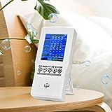 Kacsoo Monitor de calidad del aire PM2.5 PM10 CO2 HCHO TVOC detector de contaminación aire mide la calidad del aire en interiores y exteriores con registro de valor medio y datos en tiempo real