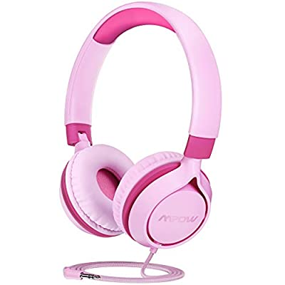 MPOW CH E1 Kids Headphones, Wired Headphones for Kids Teens, Children Headphones with Volume Limit, Foldable Adjustable On-ear Headphones for School,Travel, Compatible with Cellphones, Tablets, PC from Mpow