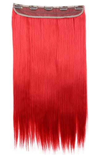 PRETTYSHOP Clip In Extensions Haarverlängerung Haarteil Glatt 60cm rot #3100 C61