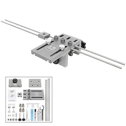 Wisamic Bohrschablone Jig Dübelvorrichtung 6/8/10/15mm Auf Holz zentriert Dübelhilfe Schnelldübler