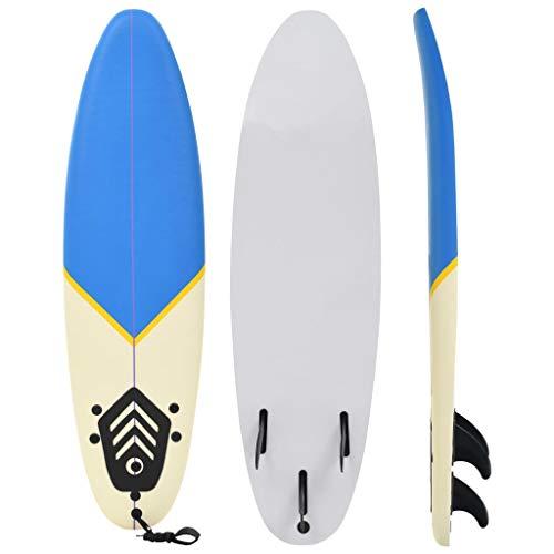 vidaXL Surfbrett 170 cm Blau Creme Stand Up Board Surfboard Wellenreiter