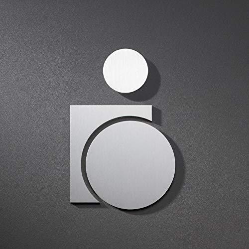 Edelstahl geb/ürstet 100/% Made in Germany PHOS Edelstahl Design P3801 11 x 9,6 cm Piktogramm Putzraum Abstellkammer Abstellraum selbstklebend