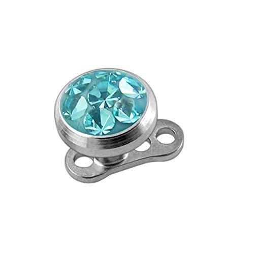 Piercing de ancla dérmica con base de titanio de grado G23,