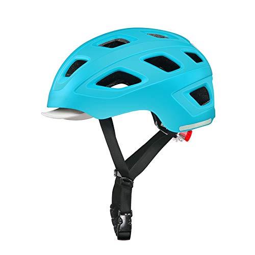 HVW Casco de Bicicleta para Adultos, Casco de Ciclo de Bicicletas con Seguridad Traslight Urban Charmuter Lightweight Tamaño Ajustable Casco de Ciclismo para Hombres Mujeres 21.25-22.83 Pulgadas,C