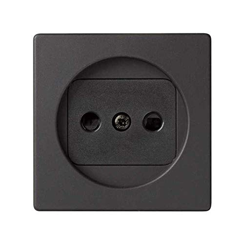 Simon - 82040-38 tapa enchufe bipolar+seguridad s-82 grafito Ref. 6558238230
