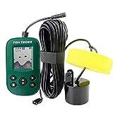 Cableado Sonar Inteligente Pez Descubridor Agua Profundidad Sonar Sensor Transductor LCD de 2.2' Pantalla Alarma Sonda Localizador de Peces para Hielo Bote Pescar