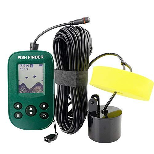 Cableado Sonar Inteligente Pez Descubridor Agua Profundidad Sonar Sensor Transductor LCD de 2.2  Pantalla Alarma Sonda Localizador de Peces para Hielo Bote Pescar