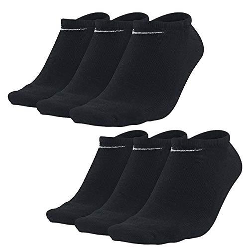 Nike 6 Paar Sneaker Socken No Show Füßlinge schwarz/weiß/Mehrfarbig, Farbe:Schwarz, Bekleidungsgröße:M