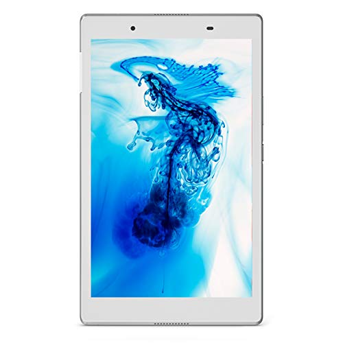 "Lenovo Tab4 8 Tablet, Display 8"" HD, Processore Qualcomm, 16 GB Espandibili fino a 128 GB, RAM 2 GB, WiFi+LTE, Android Nougat, Polar White"