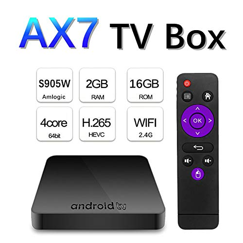 Android TV Box 9.0 [2GB RAM + 16GB ROM], Amlogics905w Smart TV Box 64-bit Cortex-A53 Smart Box, 2.4G Dual Wi-Fi, BT 4.1, 4K HD TV Box, USB 3.0 Media Player: Amazon.es: Hogar