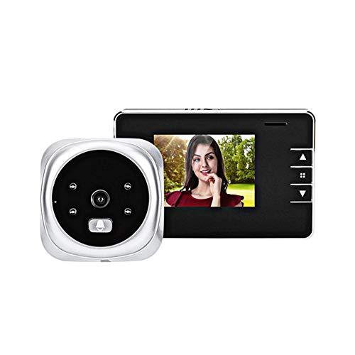 Digital dörrspion, 120 graders betraktningsvinkel video dörrklocka 2,8 tum skärm HD LCD-skärm mörkerseende kamera video elektronisk bakhål icke-rörelsedetektering video dörrklocka