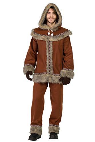 Kimokawaii Disfraz Esquimal Marron Hombre XL