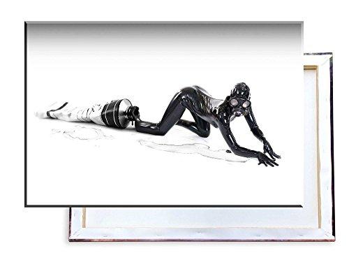 Unified Distribution Fetisch Girl Lates Tube - 120x80 cm - Bilder & Kunstdrucke fertig auf Leinwand aufgespannt und in erstklassiger Druckqualität