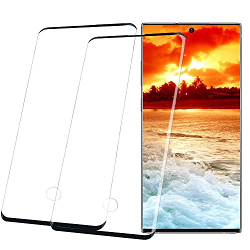 2 Pack for Galaxy Note 10 Plus Screen Protector, [Anti Fingerprint],HD [Bubble-Free] 3D Curved [Case Friendly] Full Coverage [9H Hardness] Compatible Galaxy Note 10 Plus