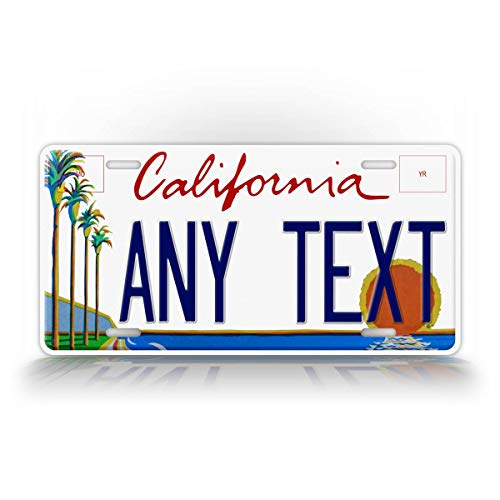 SignsAndTagsOnline California Arts Council Personalized License Plate Custom Any Text CA Palm Trees State Auto Tag