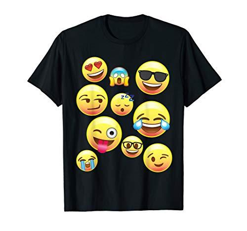 Funny Emoji-Faces Shirt für Mädchen, Jungen, Teenager, Damen & Herren