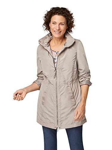 Bonita Damen Jacke Regenjacke Übergang 2-teilig braun (42)