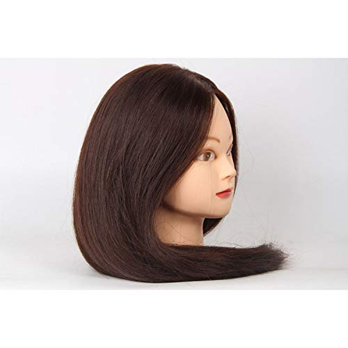Tfmox Têtes D'Exercice Enseigner la tête de maquillage cheveux double usage moule de tête mannequin perruque tête factice tête de la barre de roulement hot style de cheveux