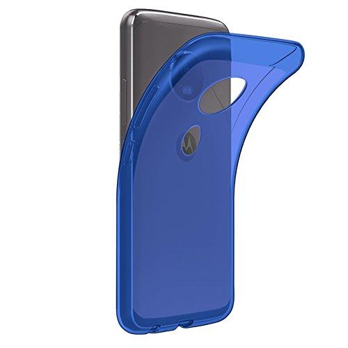 TBOC® Funda de Gel TPU Azul para Motorola Moto E5 - Moto E (5th Gen.) (5.7 Pulgadas) de Silicona Ultrafina y Flexible
