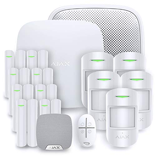 Ajax StarterKit - Alarma para casa, Color Negro, AJAX KIT-6W