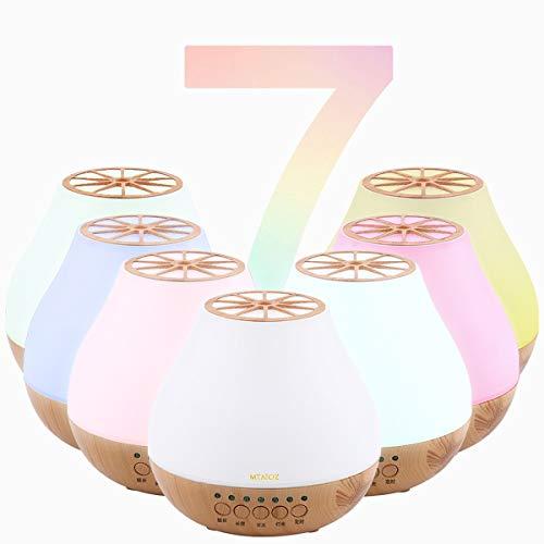 Diffusore di Aromi - Diffusore di oli Essenziali - Vaporizzatore Ambiente - Dispositivo di Aromaterapia Ultra Silenzioso, Spegnimento Automatico Senza Acqua, Dotato di Luci a LED. (white)