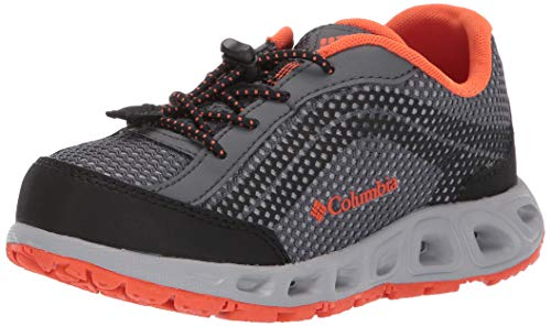 Columbia Unisex Kids Chaussures, YOUTH DRAINMAKER IV, Taille 34, Noir (Graphite, Tangy Orange)