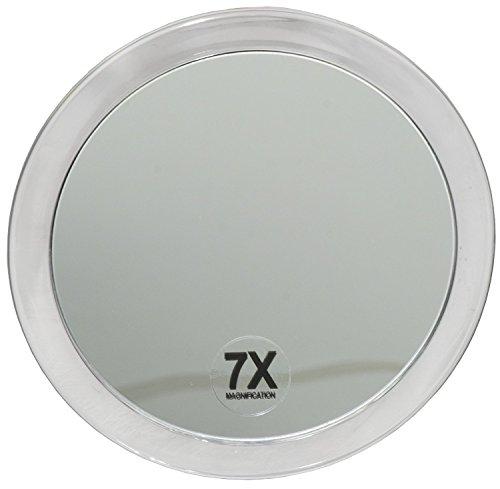 Fantasia 1356 - Espejo cosmético con Ventosa para Fijar a la Pared (7 aumentos, 15 cm), plástico