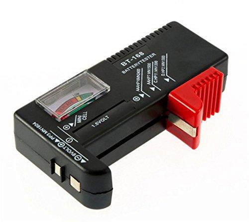 Comprobador de pilas Universal comprobador batería para AA/AAA/C/D y 9V PP3baterías y pilas botones