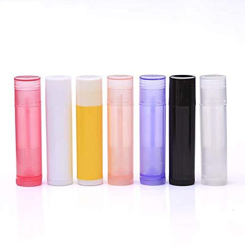 Coner 10 stks cosmetische lege chapstick lipgloss lippenstift balsem buis met doppen container lip crème cosmetische hervulbare fles, rose