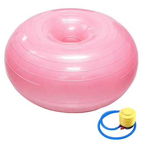Chstarina Palla per lo Yoga 50 * 30 cm Palla Pilates Palla Pilates Piccola per Ginnastica Ritmica, Rosa e Blu (Rosa)