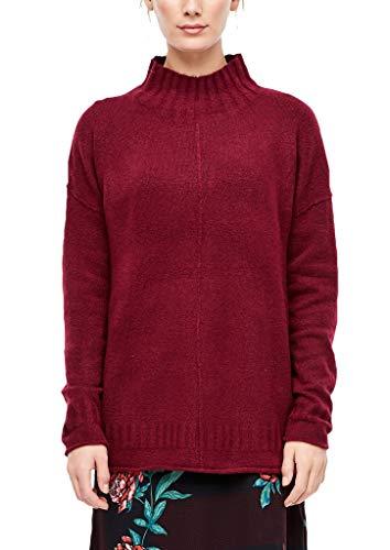 s.Oliver Damen 14.910.61.6414 Pullover, Rot (Bordeaux 4906), (Herstellergröße: 42)